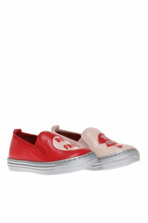 Embroidered slip-on sneakers od Stella McCartney Kids