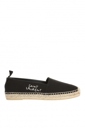 Espadrilles with embroidered logo od Saint Laurent