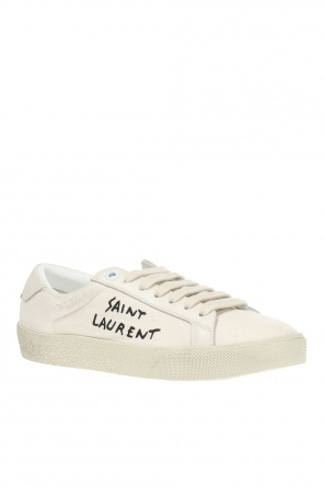 Court' sports shoes with a logo od Saint Laurent
