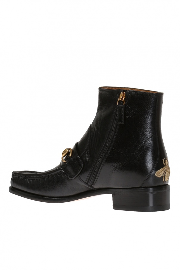 caa6657604f Bee-embroidered ankle boots Gucci - Vitkac shop online