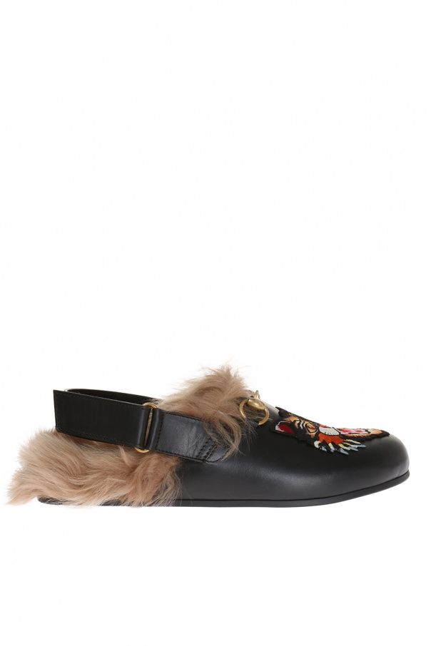 cf2eec3f13c Angry Cat  patched slippers Gucci - Vitkac shop online