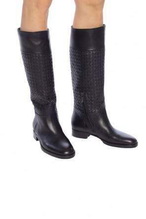 Boots with 'intrecciato' pattern od Bottega Veneta