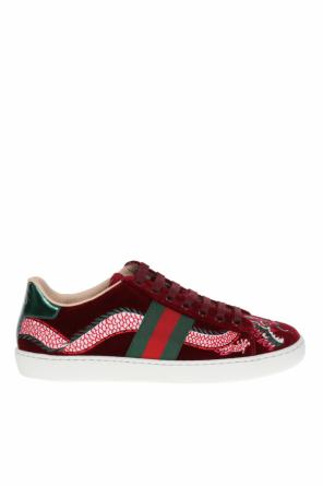 Embroidered sneakers od Gucci