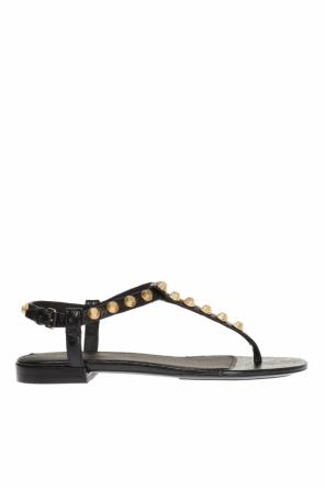 Studded leather sandals od Balenciaga
