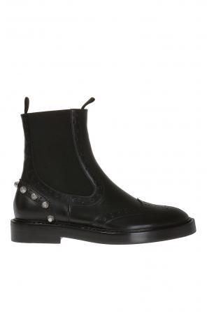 Perforated leather chelsea boots od Balenciaga