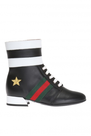 'web' lace-up shoes od Gucci Kids