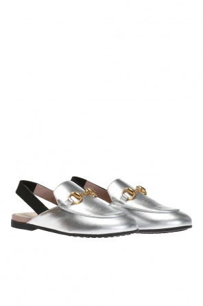 Slides with metal horsebit od Gucci Kids