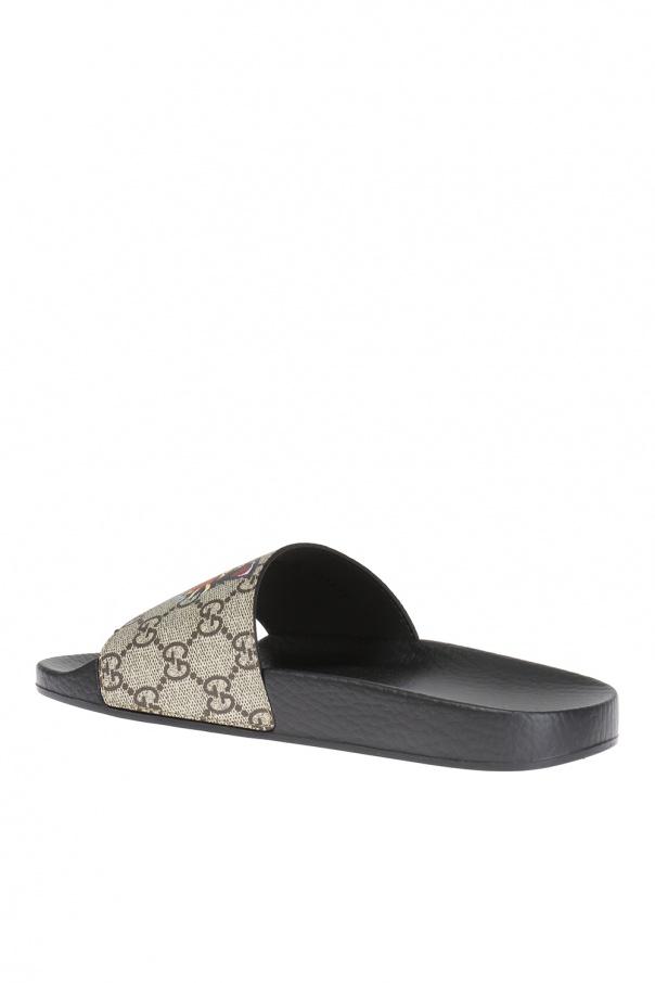 680f46b154c 100+ Gucci Supreme Tiger Slide Sandal Eyeconicwear. Gucci Shoes ...