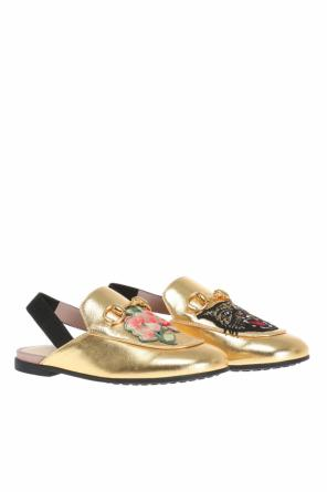'princetown' embroidered slippers od Gucci Kids
