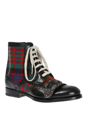 Decorative buckle boots od Gucci