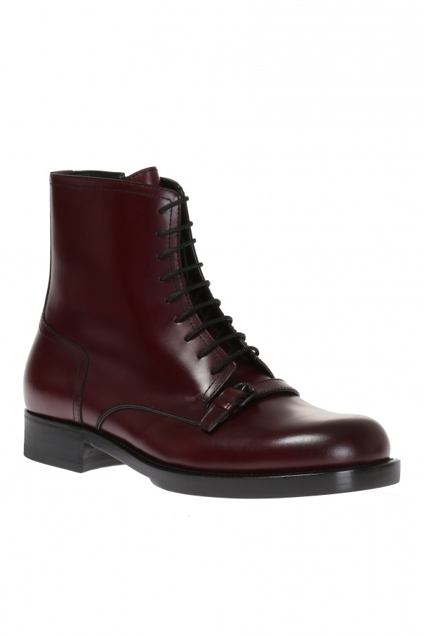 Lace-up ankle boots od Bottega Veneta