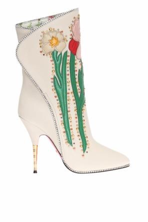 Embellished heeled boots od Gucci