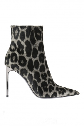 Leopard print heeled ankle boots od Stella McCartney
