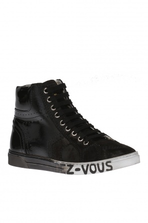 Patchwork high-top sneakers od Saint Laurent Paris