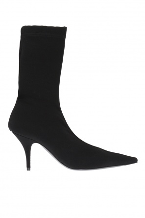 Heeled boots with socks od Balenciaga