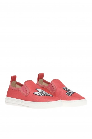 'leo' slip-on sneakers od Stella McCartney Kids