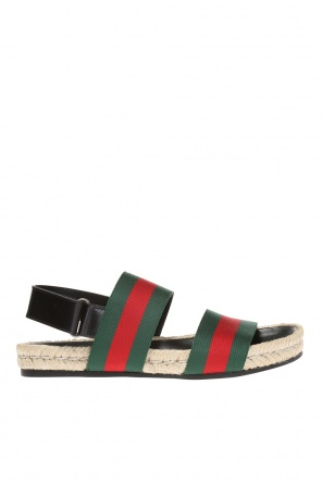 Sandals with 'web' strap od Gucci