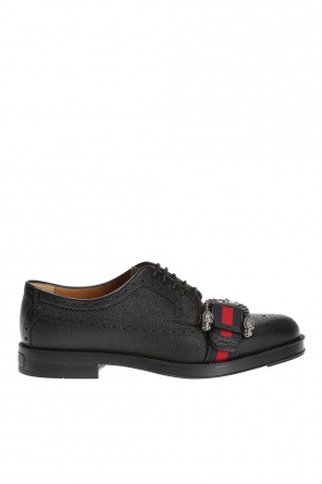 'web' brogue shoes od Gucci