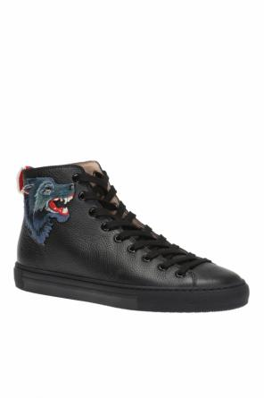 Patched high-top sneakers od Gucci
