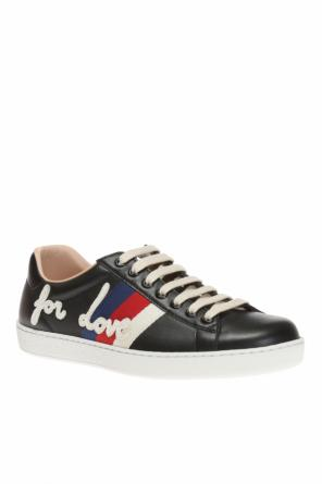 Sneakers with patch od Gucci