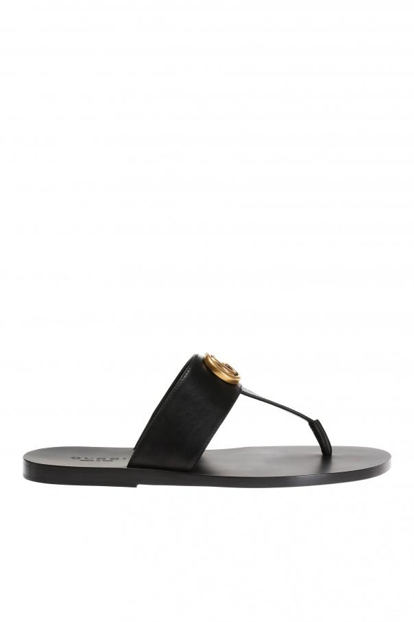 a4c9fa14c388e Metal logo flip-flops Gucci - Vitkac shop online