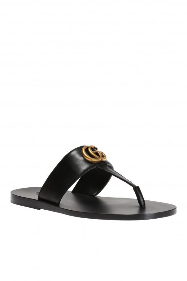 a10b6963188f Metal logo flip-flops Gucci - Vitkac shop online