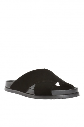 'jimmy' logo slides od Saint Laurent