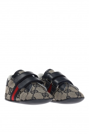 Logo-embroidered shoes od Gucci Kids