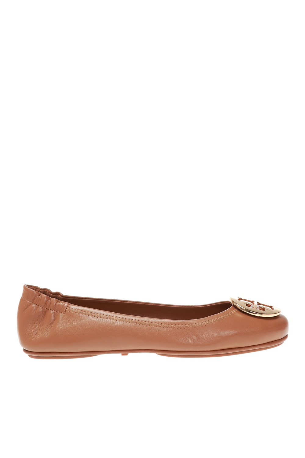 Tory Burch Leather ballet flats with logo