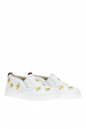 Embroidered slip-on sneakers od Gucci Kids
