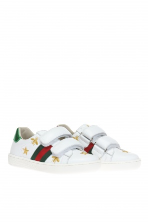 Embroidered sneakers od Gucci Kids