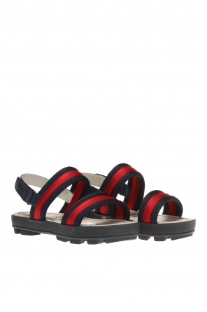 'web' sandals od Gucci Kids