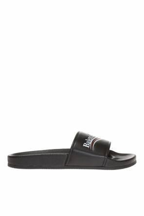 Slides with embossed logo od Balenciaga