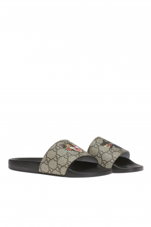 'gg supreme' canvas slides od Gucci Kids
