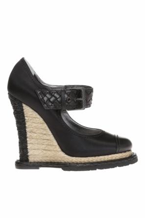 Satin wedge shoes od Bottega Veneta