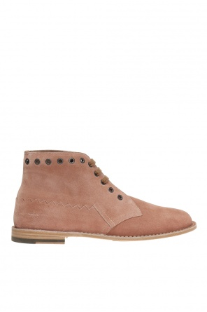 'maldon' lace-up ankle boots od Bottega Veneta