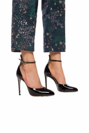Heeled sandals with floral motif od Gucci