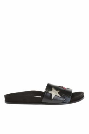 'black star' embroidered slides od Stella McCartney