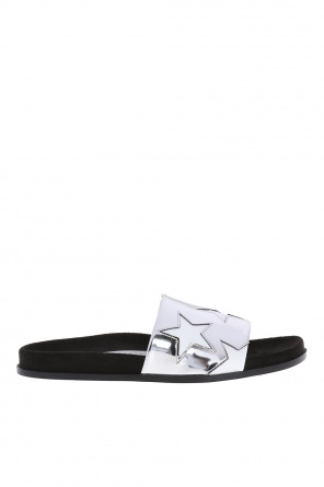 Black star' slippers with an embroidered pattern od Stella McCartney