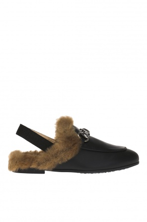 Slides with fur finish od Gucci Kids