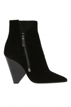 Suede ankle boots od Saint Laurent