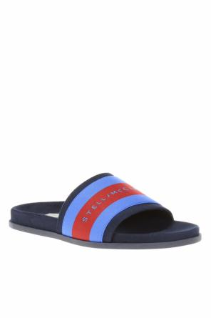Logo-patched slides od Stella McCartney