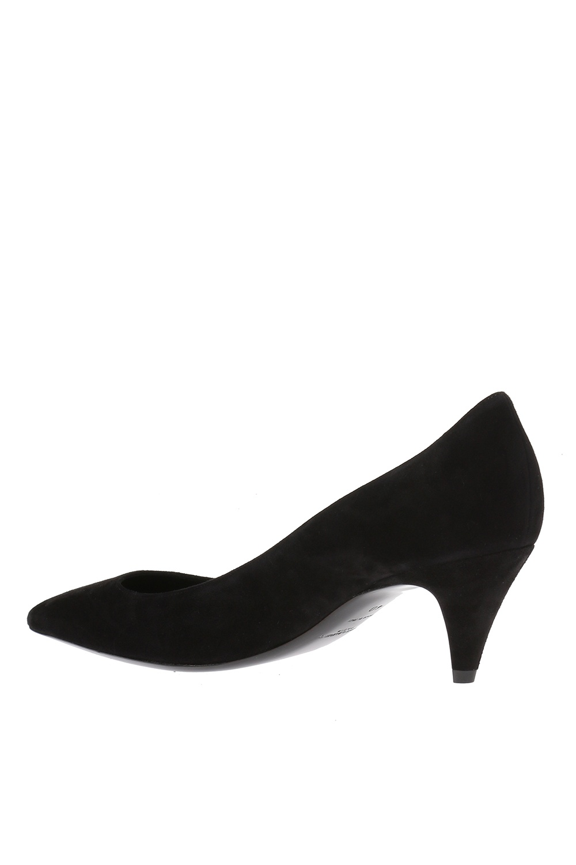 Saint Laurent Zamszowe buty na obcasie 'Charlotte'