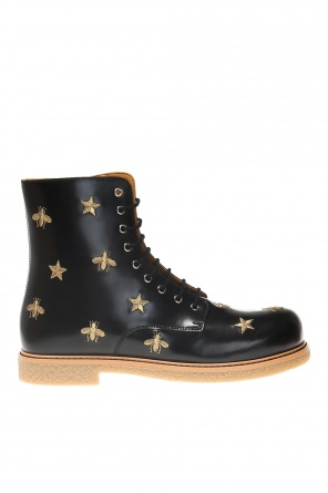 Boots with an embroidered pattern od Gucci Kids