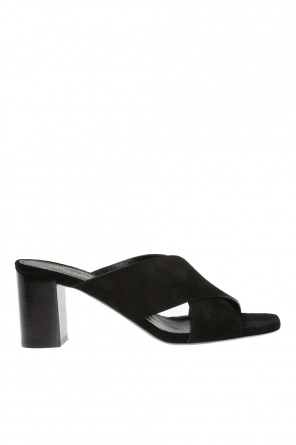 Suede mules od Saint Laurent