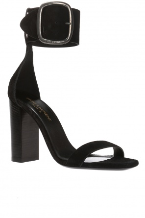 'loulou' block heel sandals od Saint Laurent