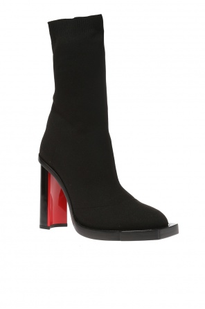 Heeled ankle boots with a sock od Alexander McQueen