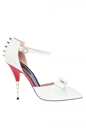 Embellished stiletto pumps od Gucci