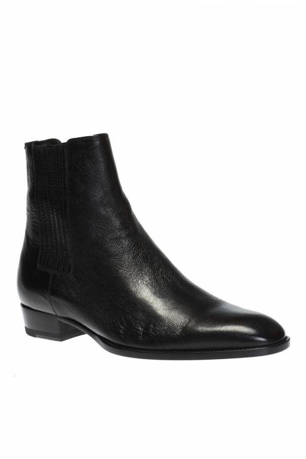 'wyatt' leather ankle boots od Saint Laurent