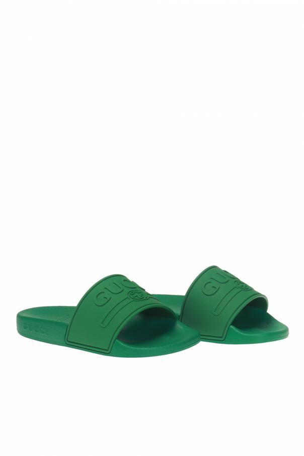 66e1c9d264af9 Rubber flip-flops with a convex logo Gucci Kids - Vitkac shop online